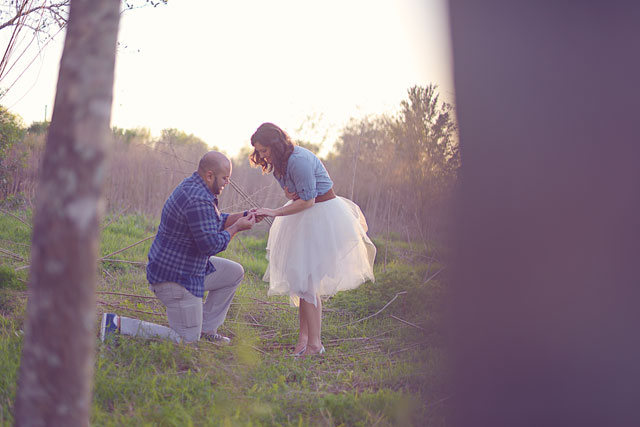 A candlelit fairy tale twilight engagement session // photo by tiffany danielle photography: http://tiffanydanielle.org || see more on https://blog.nearlynewlywed.com