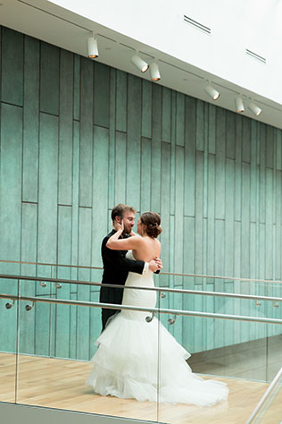 A lovely jewel toned and watercolor Columbus Museum of Art wedding by Two Maries