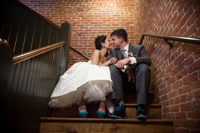 A Cork Factory wedding with rustic, handmade wooden details // photo by Two Sticks Studios: http://twosticksstudios.com || see more on https://blog.nearlynewlywed.com