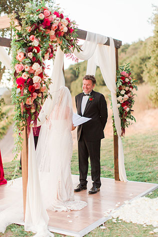 A gorgeous vineyard ombre wedding in Napa Valley just before the wildfires of 2017 reached the area by Tyler Chase Photography