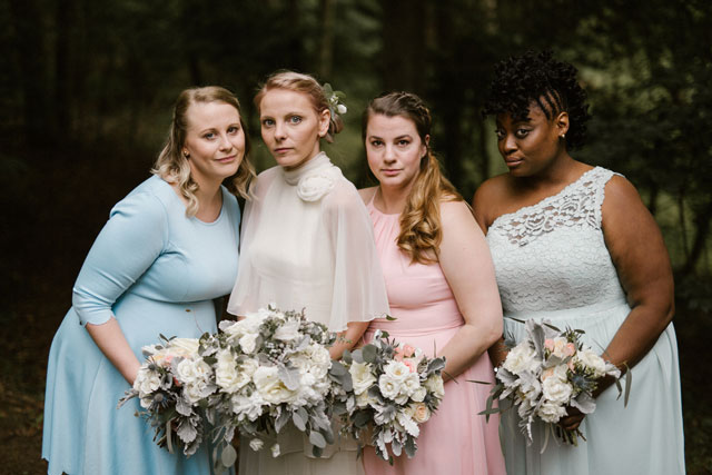 An earthy and hippie backyard wedding that included the couple's adored dachshund by Victoria Selman Photographer