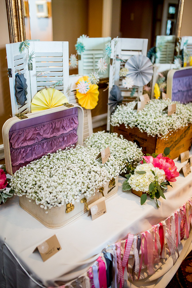 A cheerful summer wedding with vintage details by Victoria Sprung Photography    see more on blog.nearlynewlywed.com