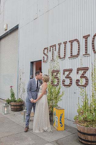 A teacher and a graphic designer marry in a funky art gallery wedding in Sausalito by Vivian Chen Photography