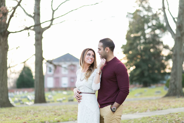 A cozy winter engagement shoot in New Jersey including a candlelit picnic | Whimsical Imagery by Amberlee: http://www.whimsicalimagery.com
